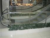 Ограждение в торговых центрах из полированной нержавеющей стали